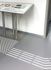 Indoor PU weiß leitet zum Plan