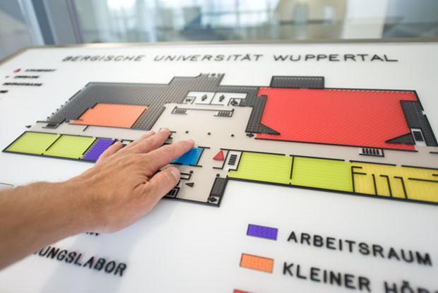 ILIS - Produkte Leitsystem in der Uni Wuppertal, Gebäude K 2011
