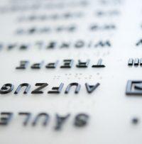 Detailansicht Profilschrift und Braille