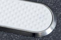 Rippe Edelstahl breit mit weißen Antirutschbelag