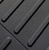 Detail Rippe schwarz aus sehr haltbarem PU