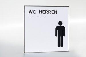 WC-Schild Herren economy line mit Pikrogramm